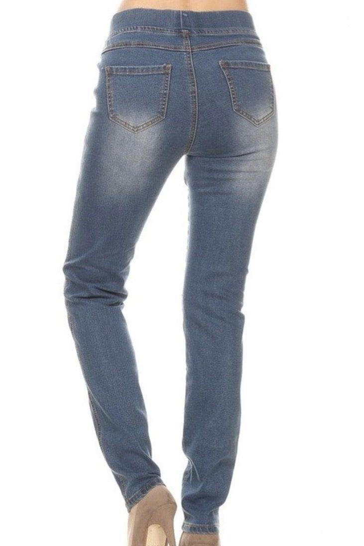 Caspian - Vintage Wash Skinnies Bottoms SOME
