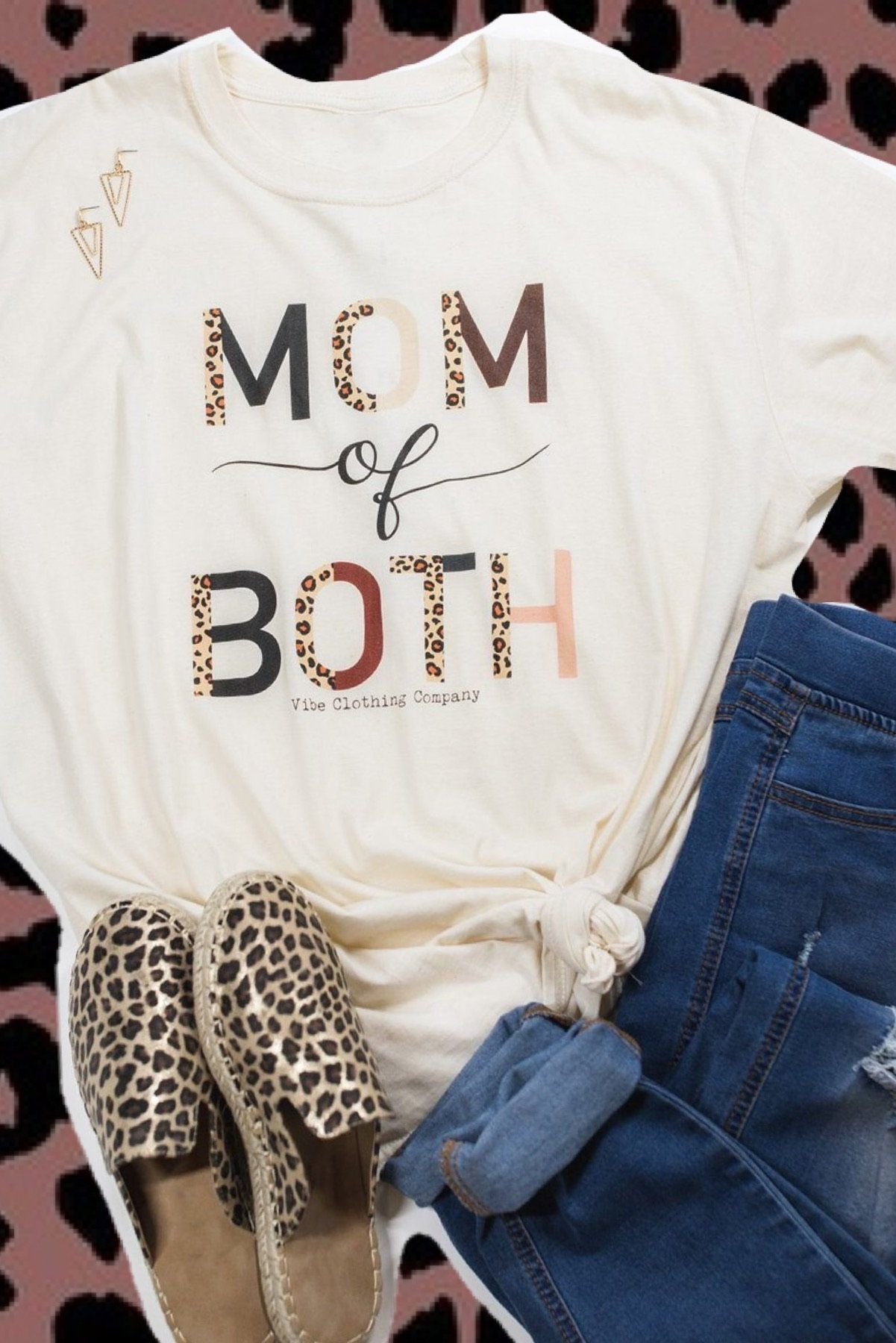 Mom of Both Graphic Tee graphic tees Mark tee