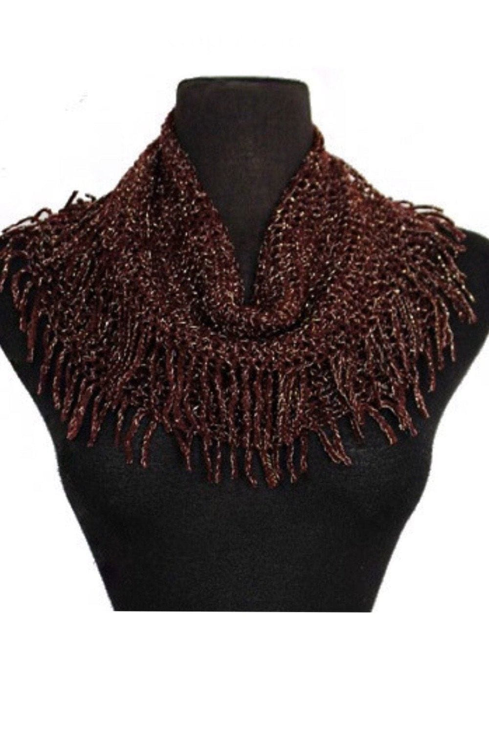 Fringe Infinity Scarf- Glitter door buster Vibe Clothing Company