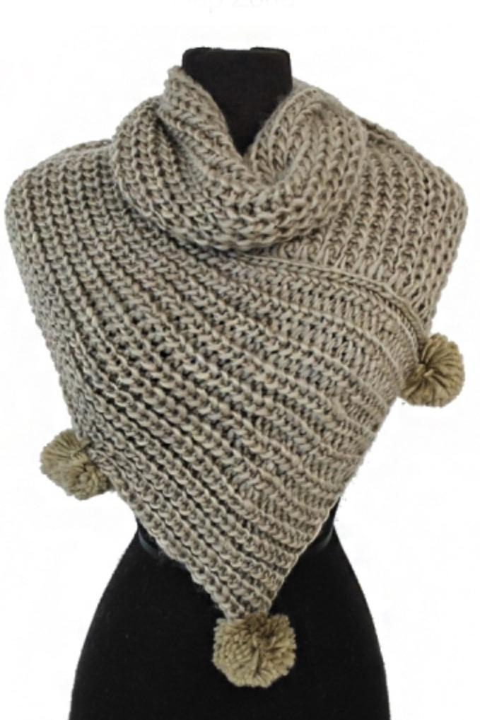 Pom Pom Neck Scarf door buster Vibe Clothing Company