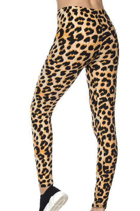 LEOPARD Leggings - Tan Basics 2ne1