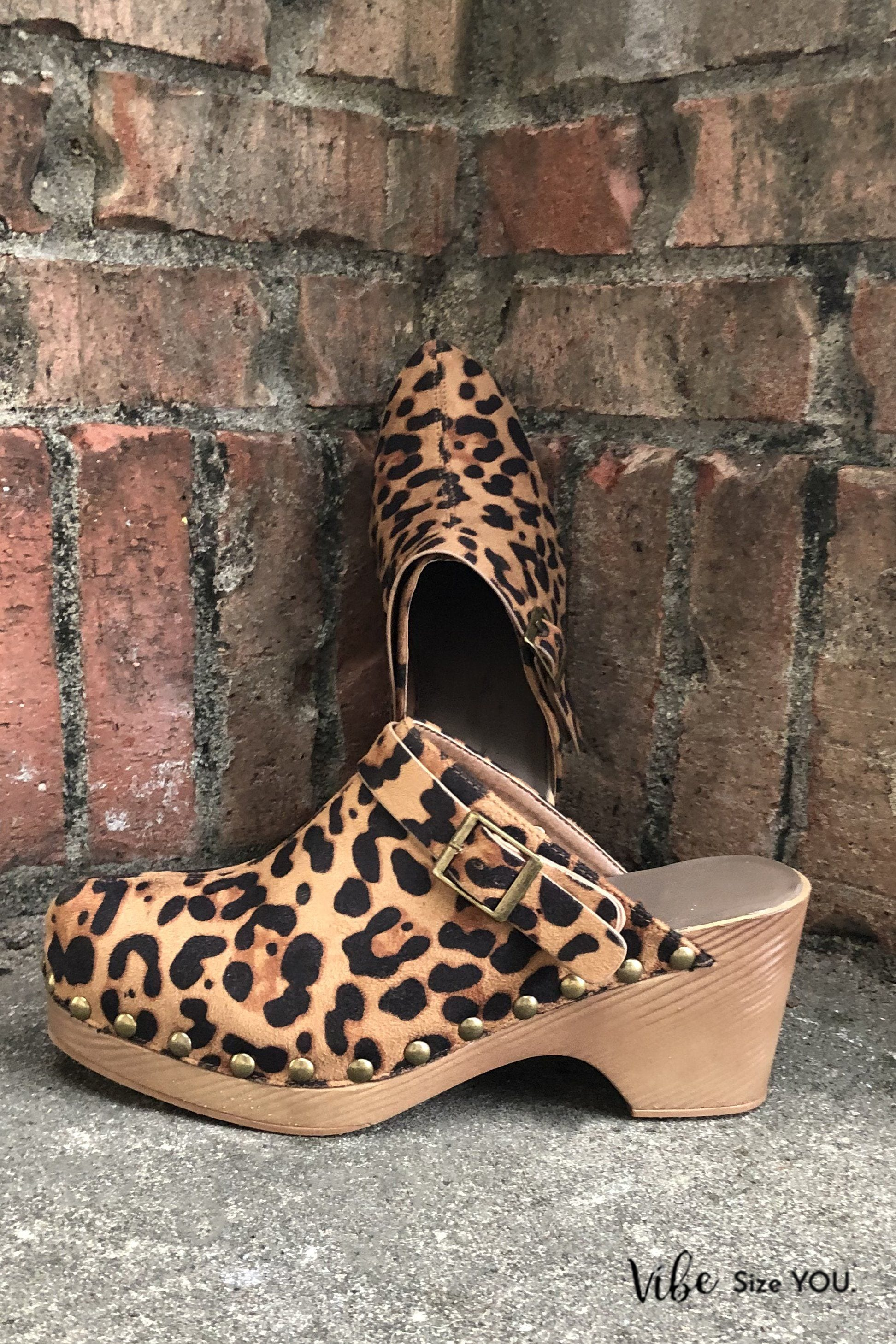 Mira Clogs - Leopard Shoes corkys Myra