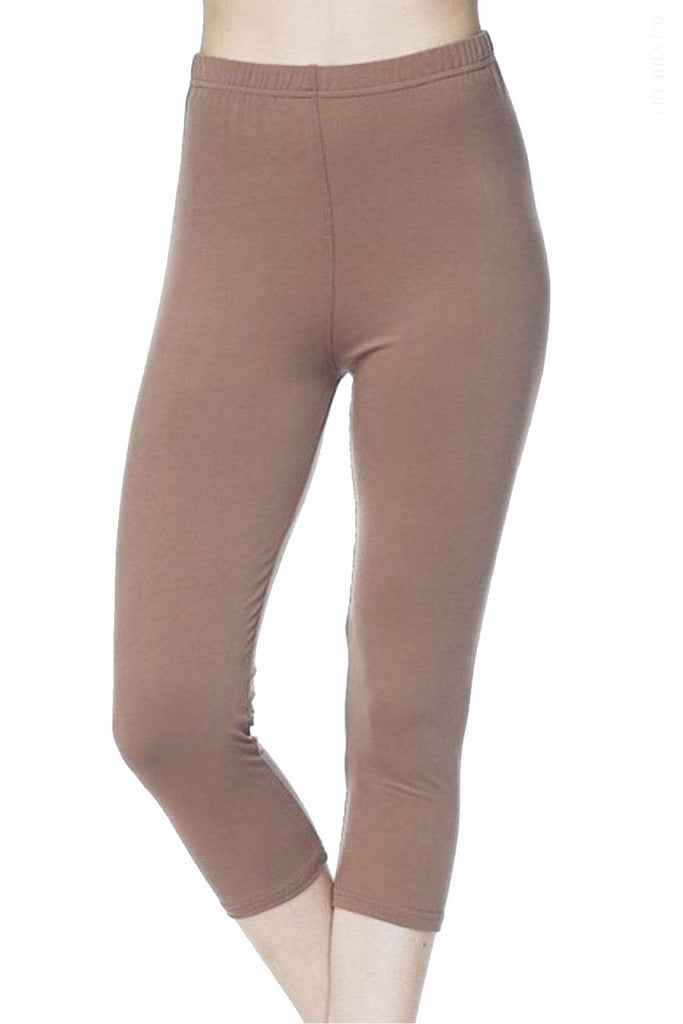 Mocha Cropped Leggings