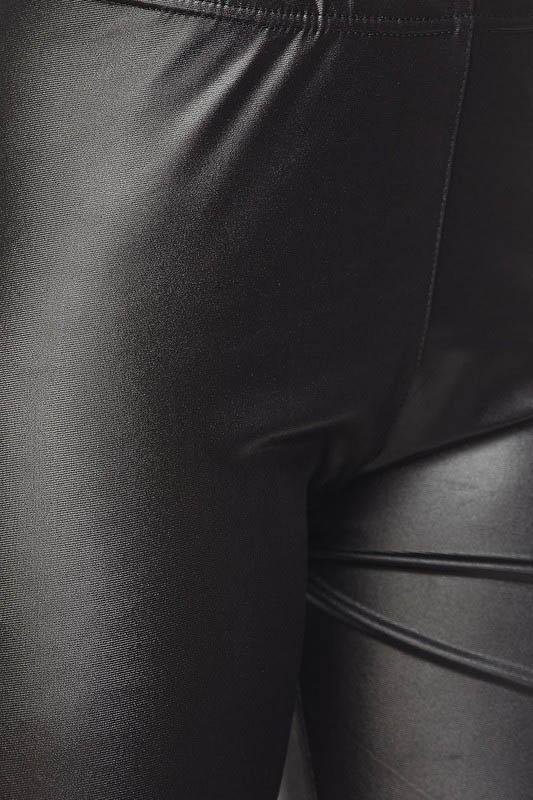 Pleather Leggings - Matte Black