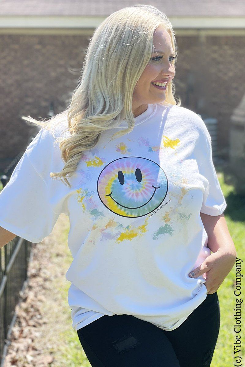 Happy Face Graphic Tee graphic tees Mark tee