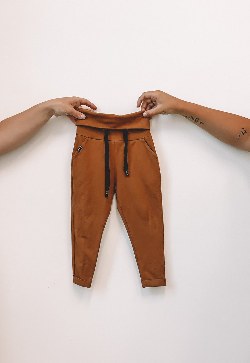 MIX & MATCH PANTALON COGNAC