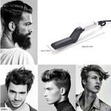 Men Quick Beard Straightener Multi functional Hair Comb Curling Curler Show Cap - LINA DEALS