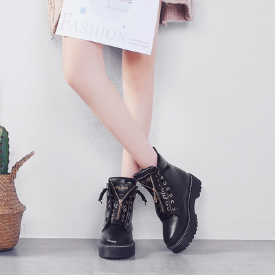 Fashionable leather boots - LINA DEALS