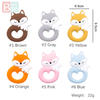 Bite Bites 6PC Fox Silicone Teether Pendant For Pacifier Baby Product Food Grade - LINA DEALS