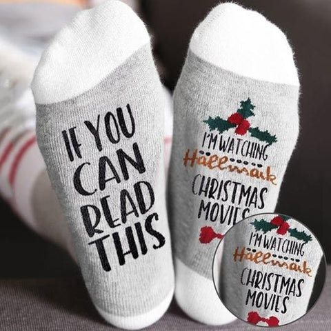CHRISTMAS MOVIE SOCKS - LINA DEALS