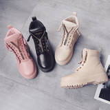 Fashionable leather boots