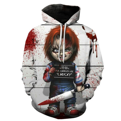 The 2019 Newest Chucky Doll Halloween Hoody For Man/Women