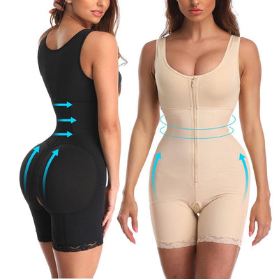 Women's zipper slimming corset