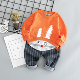 Cotton active casual cartoon kids suit