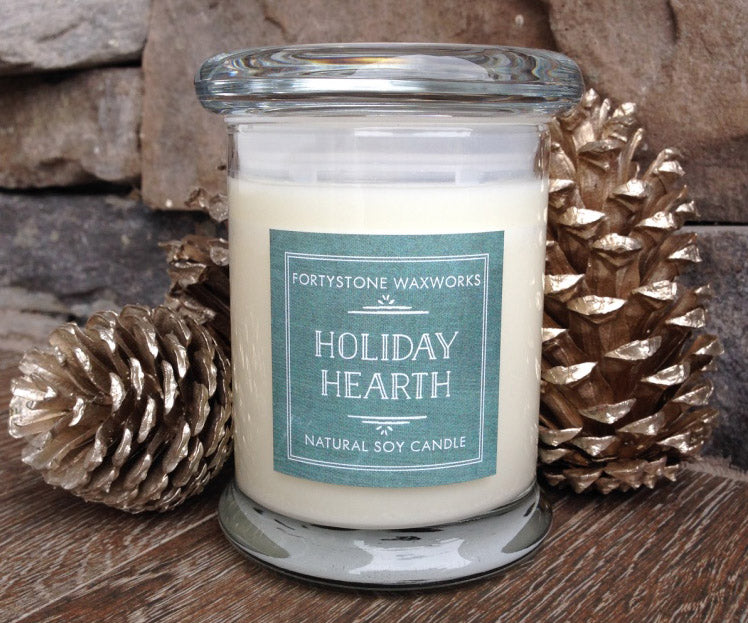 Holiday Hearth Jar