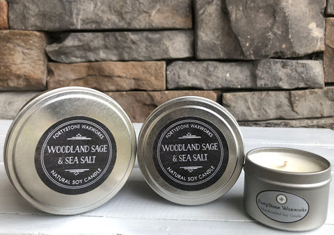 Woodland Sage & Sea Salt Tin