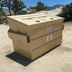 BearSaver 3-yard, Front Load, Bear-Resistant, Pitch-Top Dumpsters - DSFLPT-3Y-02