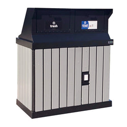 HA Series Double Trash Enclosure with WIDE Loading Chutes, ADA Compliant  - HA2-CH