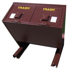 BearSaver - Hid-A-Bag Double Trash Enclosure, 140 gal  - HB2-P
