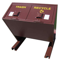 BearSaver - Hid-A-Bag Mini Double Trash/Recycling Enclosure, 64 gal - HB2G-PX