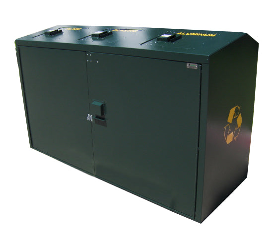 Outdoor Trash/Recycle Bin, Holds Three 65 Gal Carts for 195 Gallons Total - MD365