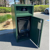 ADA compliant, Bear resistant and Rodent Resistant Cart Garage with Chute, Holds One 35 Gallon Poly Cart - CE135MB-CH