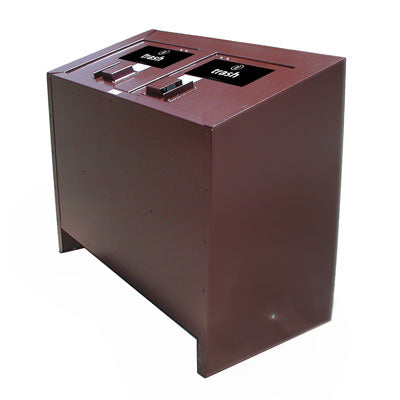 BearSaver - BE Series Double Trash Enclosure, ADA Compliant  - BE2-P