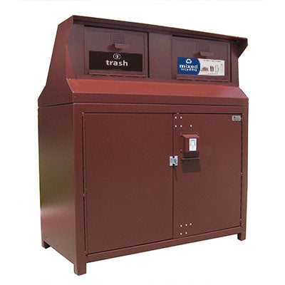 BearSaver - CE Series Double Trash Enclosure, ADA Compliant - CE232-CH
