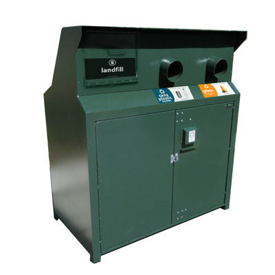 BearSaver - CE Series Triple Trash/Recycling Enclosure, ADA Compliant - CE340-CHRR