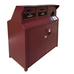 BearSaver - CE Series Triple Trash/Recycling Enclosure, ADA Compliant - CE340-CHR