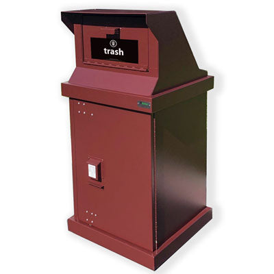 BearSaver - HA Series Single Trash Enclosure with WIDE Loading Chute, ADA Compliant  - HA-CH