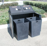 BearSaver - HA Series Double Trash/Recycling Enclosure, ADA Compliant  - HA2-PX