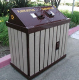 BearSaver - HA Series Double Recycling Enclosure, ADA Compliant  - HA2-PY