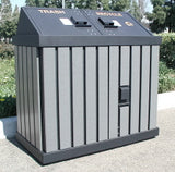 BearSaver - HA Series Double Trash Enclosure, ADA Compliant  - HA2-P