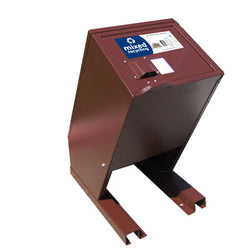 BearSaver - Hid-A-Bag Mini Single Recycling Enclosure, ADA Compliant, 32 gal  - HB1G-UPY