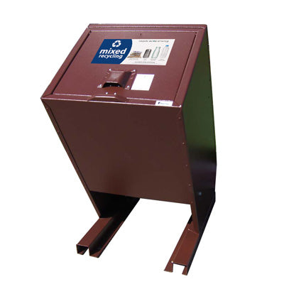 BearSaver - Hid-A-Bag Single Recycling Enclosure, 70 gal - HB1-Y