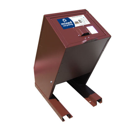 BearSaver - Hid-A-Bag Mini Single Recycling Enclosure, 32 gal - HB1G-Y