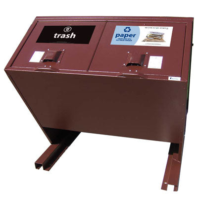 BearSaver - Hid-A-Bag Double Trash/Recycling Enclosure, 140 gal - HB2-PX