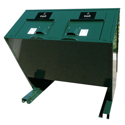 BearSaver - Hid-A-Bag Double Trash Enclosure, ADA Compliant, 140 gal  - HB2-UP