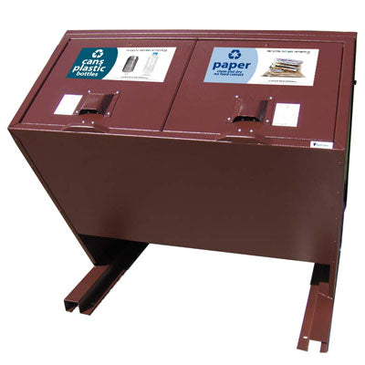 BearSaver - Hid-A-Bag Double Recycling Enclosure, 140 gal - HB2-Y