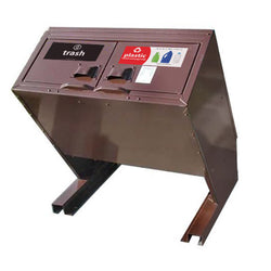 BearSaver - Hid-A-Bag Mini Double Trash/Recycling Enclosure, ADA Compliant, 64 gal - HB2G-UPX