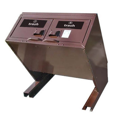 BearSaver - Hid-A-Bag Mini Double Trash Enclosure, ADA Compliant. 64 gal - HB2G-UP