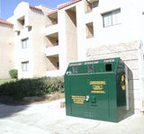 BearSaver - Mini Depot Combo Trash/Recycling Enclosure, ADA Compliant  - MDYP-LL-X