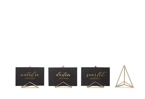 Mod Place Card Holder - Brass/Gold
