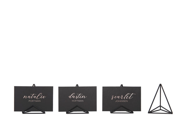 Mod Place Card Holder - Black Matte