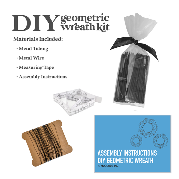 DIY Geometric Wreath Kit