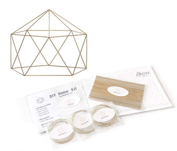 DIY DOME Centerpiece Kit - Wedding and Special Event Decor -  Available in 4 Sizes and 3 Metallic Finishes