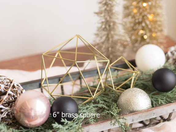 Gold Geometric Fillable Wreath Form to Decorate