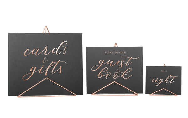 Mod Sign Holder - Small, Medium or Large - Rose Gold/Copper