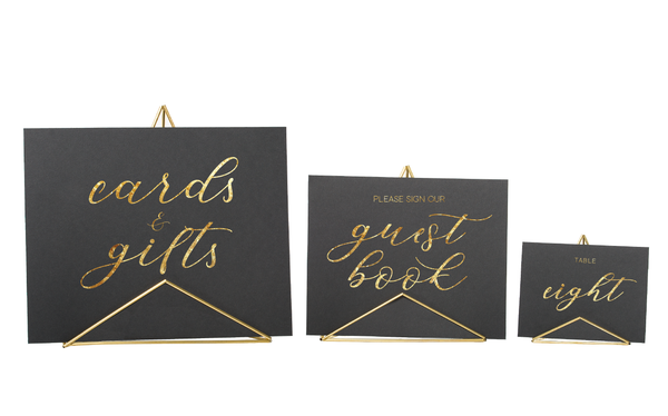 Mod Sign Holder - Small, Medium or Large - Brass/Gold